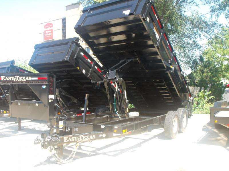 Dump Trailer 83 X 16 Spreader Gate 14000 GVW  16K Hoist