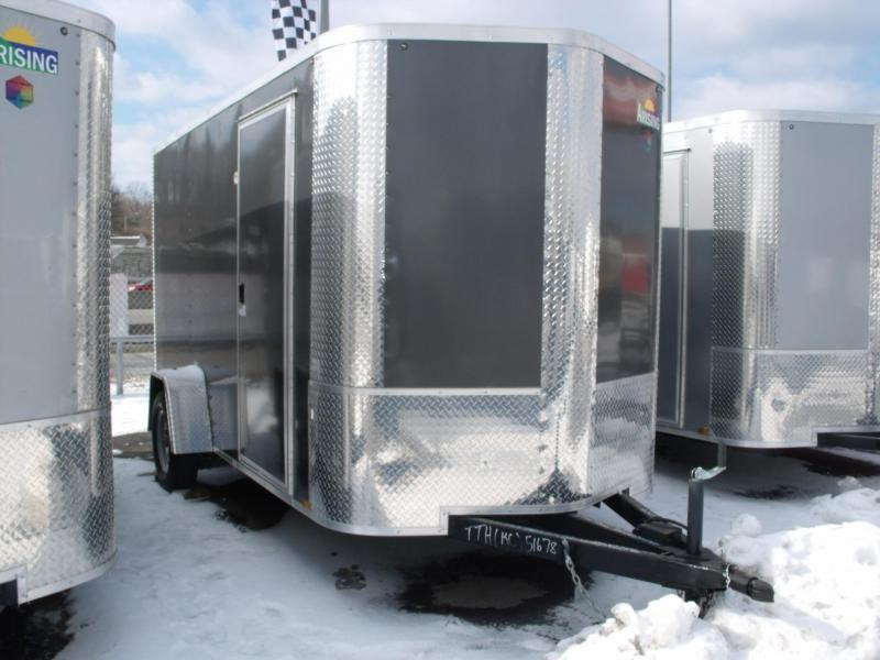 "Enclosed Trailer 6 X 12 Ramp 6' 6"" Interior ALL Tubular Construction"