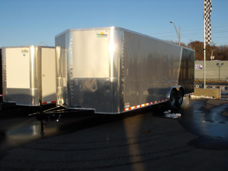 Enclosed Trailer 8.5 X 22 Ramp 14000 GVW 7' Height Razor Trailer ALL TUBE Construction