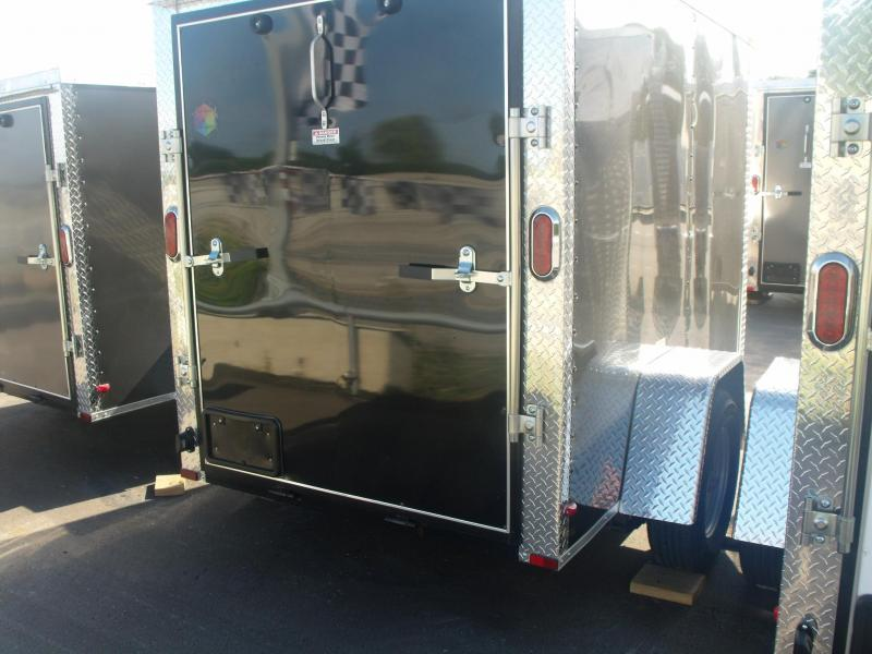 "Enclosed Trailer 5 X 8 Ramp 5 6"" Height Ramp  Black In Color All Tube Construction"