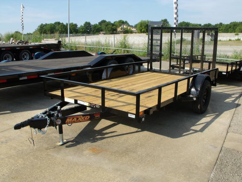 Utility Trailer 77 X 12 Front & Rear Folding Gate 2990 Axle MAXXD