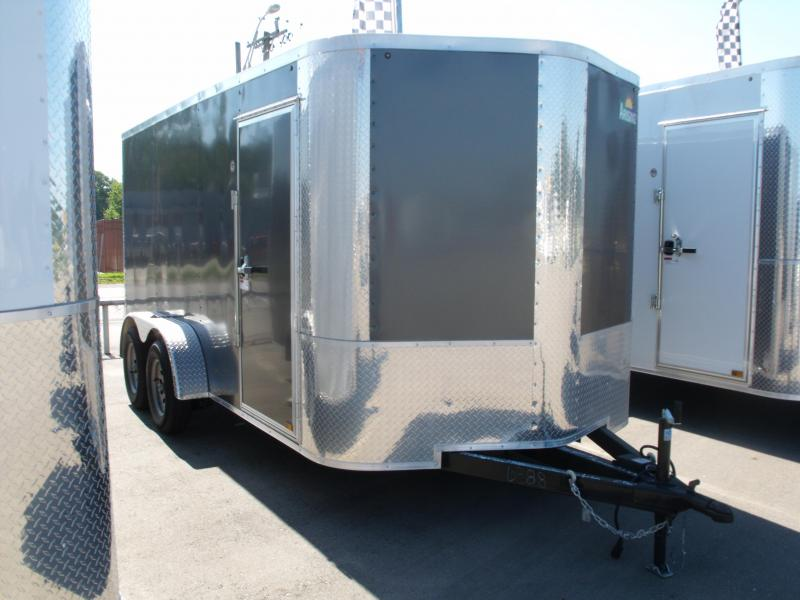 """Enclosed Trailer 7 X 14  Ramp Charcoal  In Color 7000 GVW 6' 3"""" Height in Ashburn, VA"""