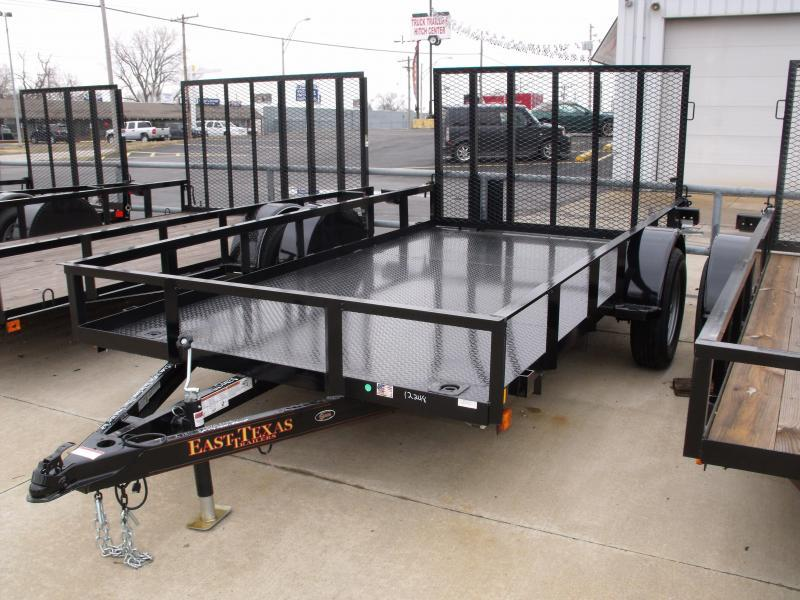 Metal Deck Utility Trailer 77 X 12 Ramp 2990 Axle ALL Steel