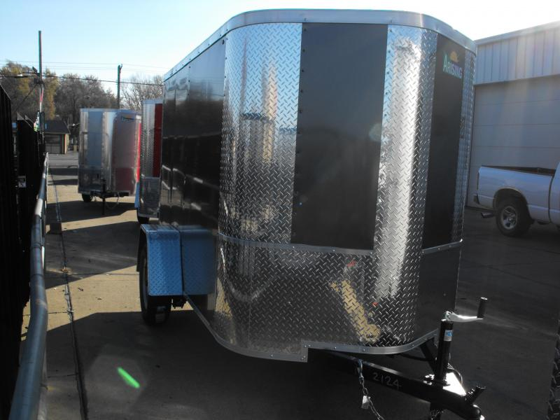 "Enclosed Trailer 5 X 8 Ramp 5' 6"" Interior ALL TUBULAR CONSTRUCTION"