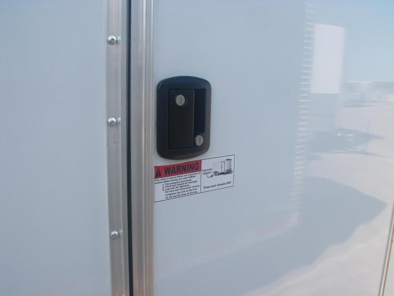 Enclosed Trailer 8.5 X 24 Ramp 9990 GVW  All Tube White In Color