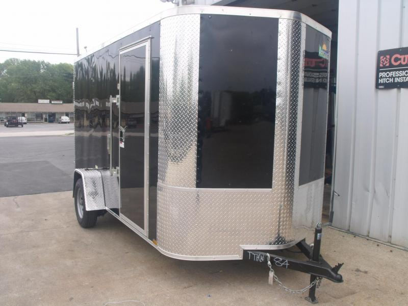 "Enclosed Trailer 6 X 12 BARN DOORS  6' 6"" Interior All Tube Construction"