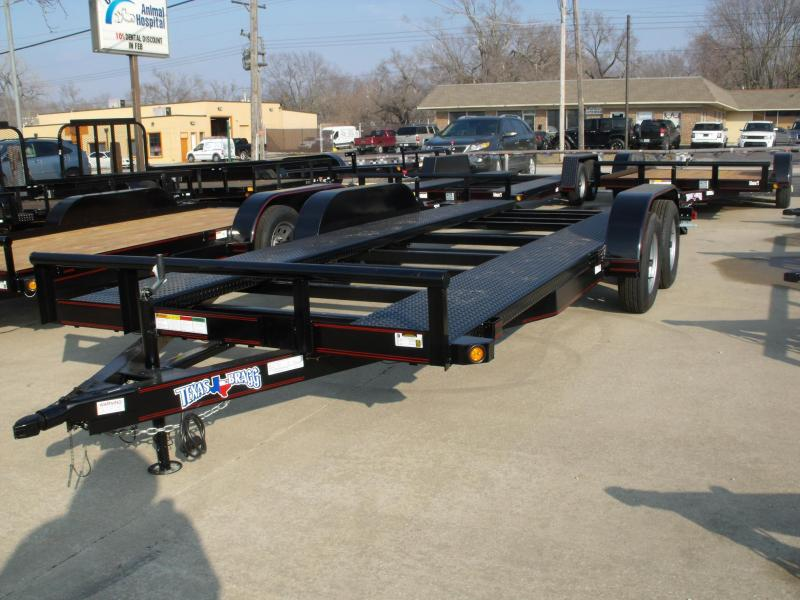 Car Hauler 83 X 18 Open Channel Car Hauler 7000 GVW Ramps