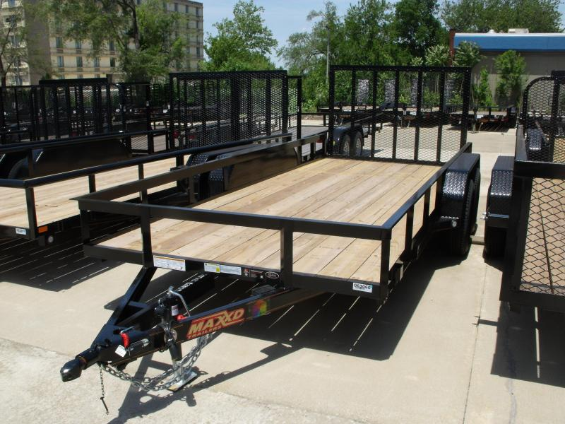 77 X 16 ATV/Utility Trailer 7000 GVW FRONT AND REAR FOLDING GATE(Very Low Wind Resistance)