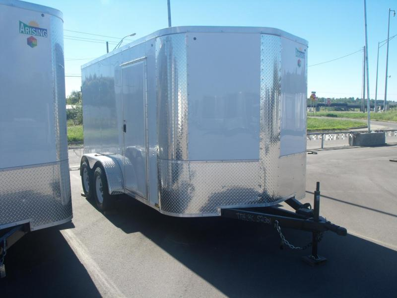 "Enclosed Trailer 7 X 12 BARN DOOR's 7000 GVW 4 WL Brakes 6' 3"" Height"