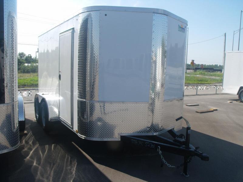 """Enclosed Trailer 7 X 12 BARN DOOR's 7000 GVW 4 WL Brakes 6' 3"""" Height"""