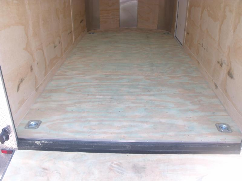 Enclosed Trailer 6 X 12 Ramp Two Tone Color White/Silver ALL Tube Const