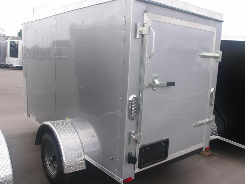 Enclosed Trailer 4 X 8 Barn Door Silver In Color