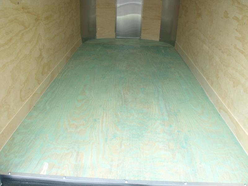 Enclosed Trailer 4 X 8 Barn Door Silver In Color