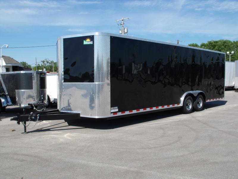 Enclosed Trailer 8.5 X 24 Ramp Dove Tail (( 7' Height))  Razor Trailer   10.400 GVW ALL Tube Construction Color Black  in Ashburn, VA
