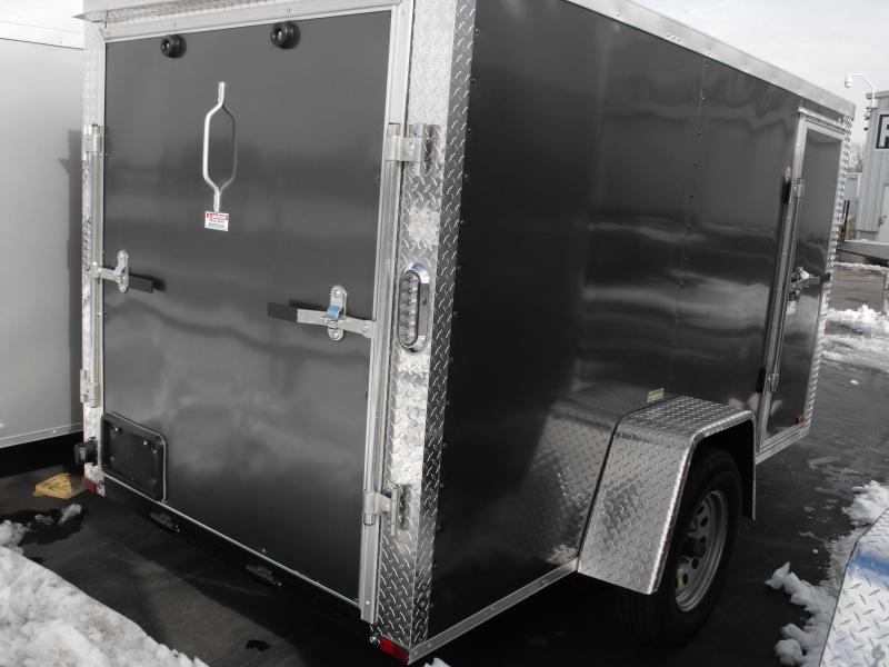 Enclosed Trailer 5 X 10 Ramp Silver Mist Color ALL TUBE Construction