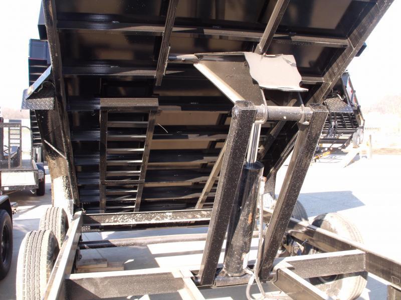 Dump Trailer 83 X 14 Spreader Gate 14000 GVW  16K Hoist