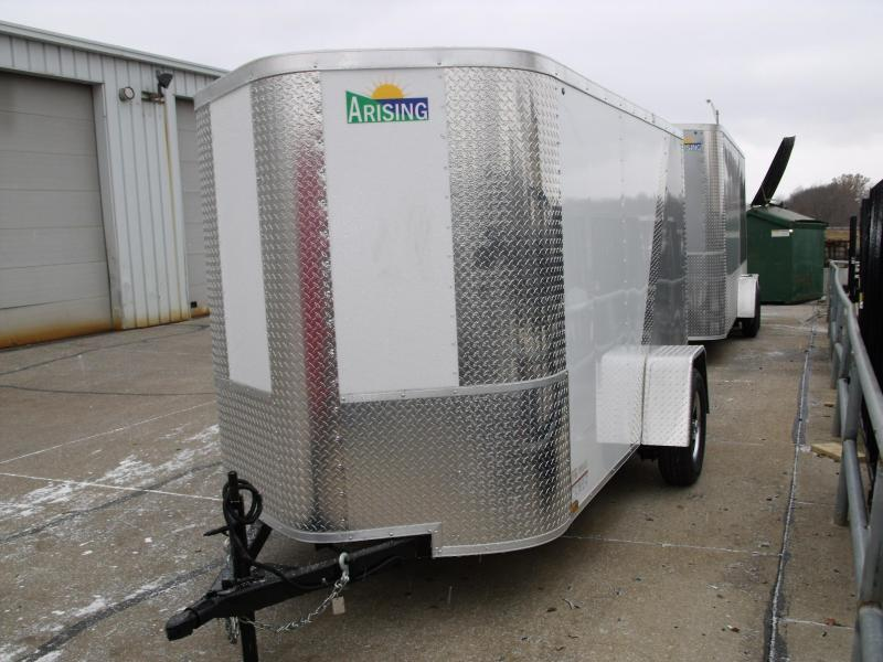 """Enclosed Trailer 5 X 10 Ramp 5' 6"""" Interior Height Two Tone Color White/Silver Mist   (((Cash Savings Here)))"""