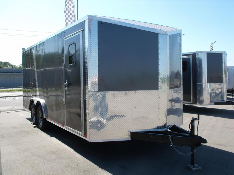 Enclosed Trailer Wedge Nose  8.5 X 20 Ramp 14K Ramp 7' Height Med Charcoal Front/ Black Rear  Tube Construction in Ashburn, VA