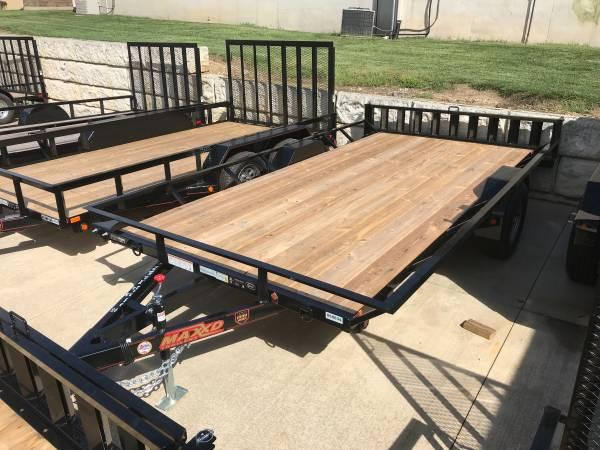 "ATV Trailer 77"" x 14' Rear Load Side Load"