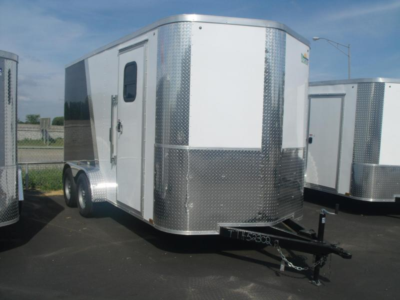 "Enclosed Trailer 7 X 14 Ramp (ALUMINUM COMPOSITE PANELS) Two Tone Color 7"" Height"