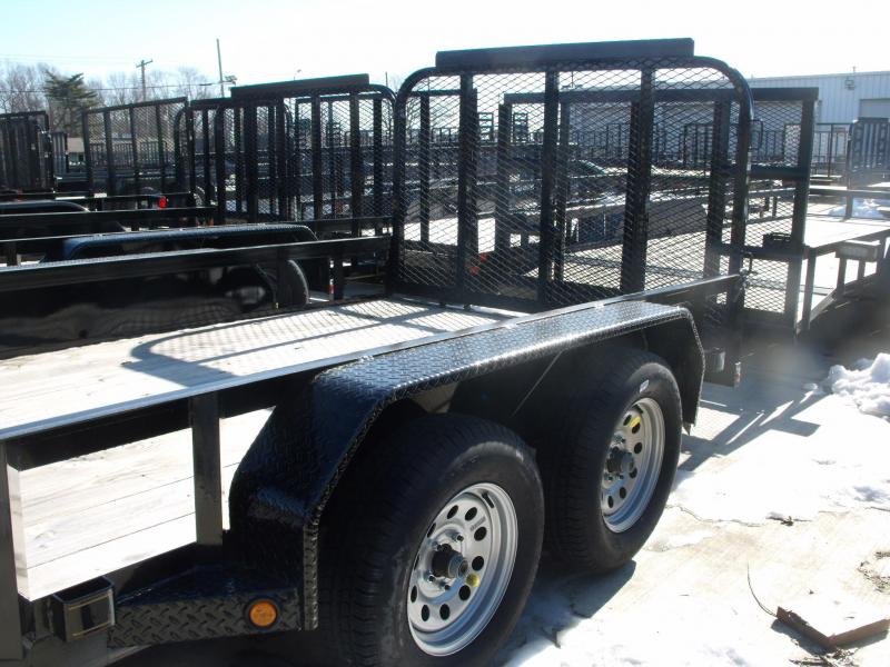 Landscape Trailer 77 X 14 With Tube Spring Assisted Gate 7000 GVW 4 WH Brakes