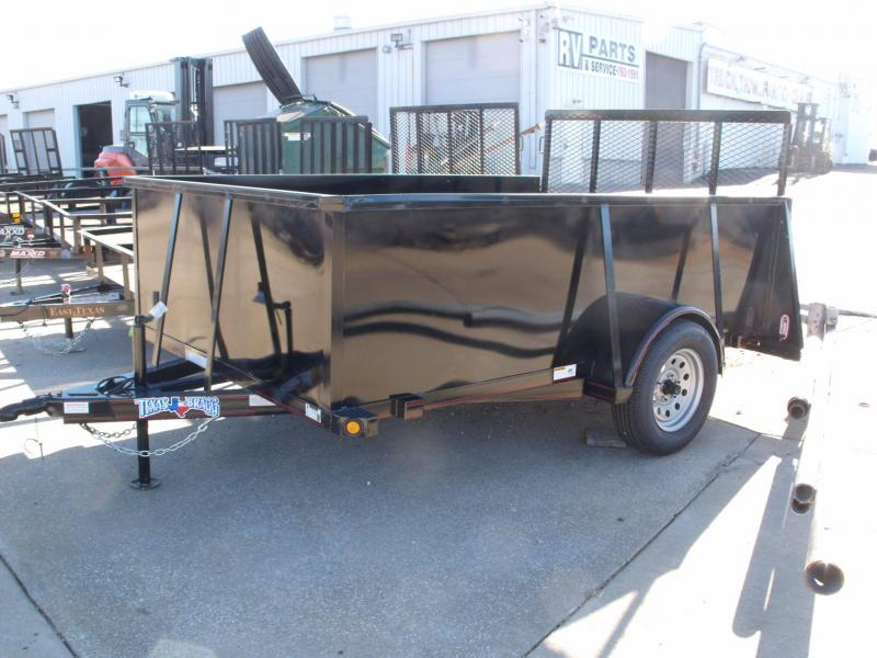 Hi Wall Utility Trailer 77 X 10 Soothe Sides Gate 2990 Axle