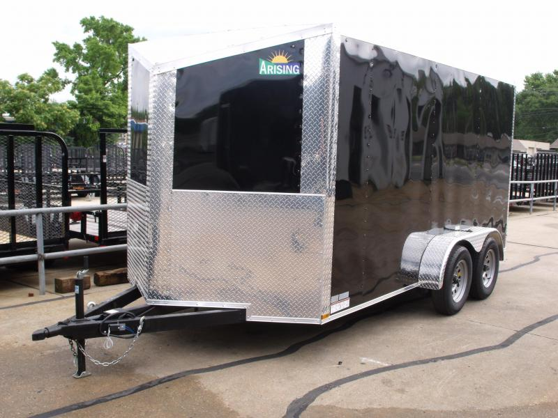 """Enclosed Trailer Wedge Nose  7 X 14 Ramp 6' 6"""" Tall  7000 GVW BLACK In Color ALL Tube Construction  in Ashburn, VA"""