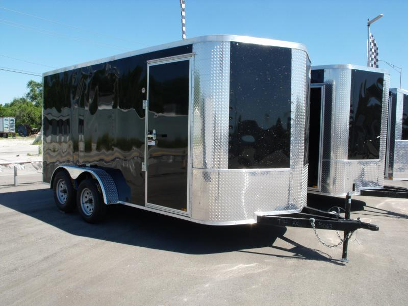 """Enclosed Trailer Soft  Nose  7 X 14 Ramp 6' 6"""" Tall  7000 GVW BLACK In Color ALL Tube Construction  in Ashburn, VA"""
