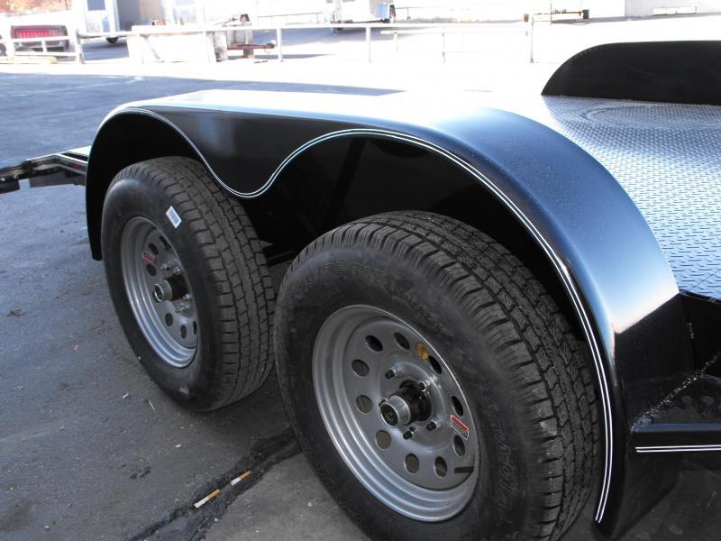 "Car Hauler 83"" X 16 Dove Metal Deck 7000 GVW  MAXXD Ramps"