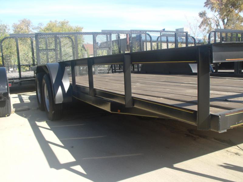 Utility Trailer 82 X 18 Dove  Tandem Axle Gate 4 WL Brakes Radials 7000 GVW