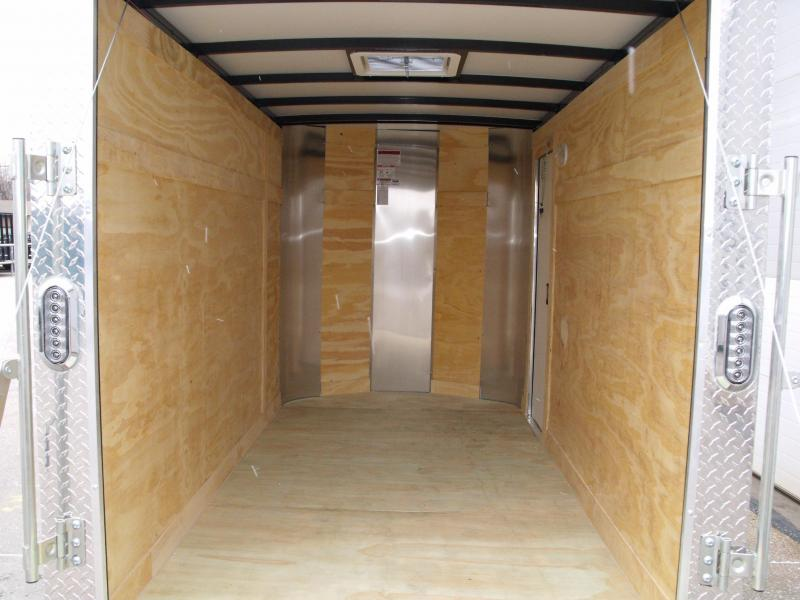 "Enclosed Trailer 5 X 10 Ramp 5' 6"" Interior Height Two Tone Color White (((Cash Savings Here)))"