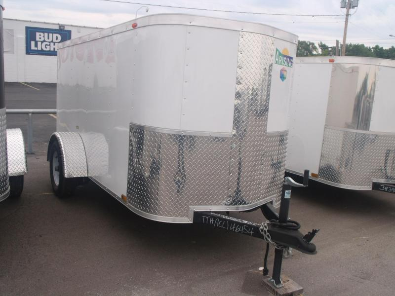 Enclosed Trailer For The Smaller Vehicles  4 X 8 Ramp Door