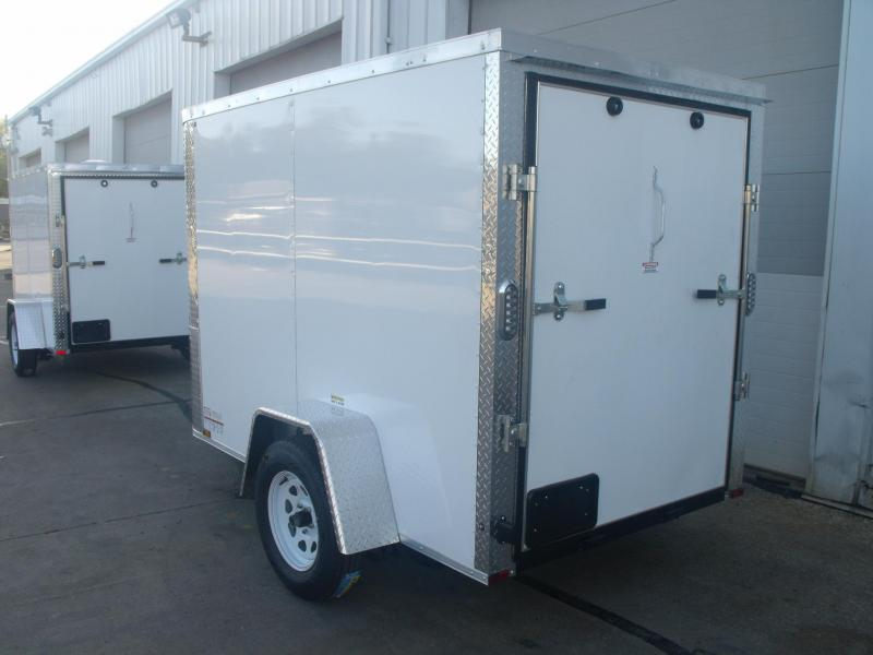 "Enclosed Trailer 5 X 8 Ramp 5' 6"" Interior All Tube Construction"