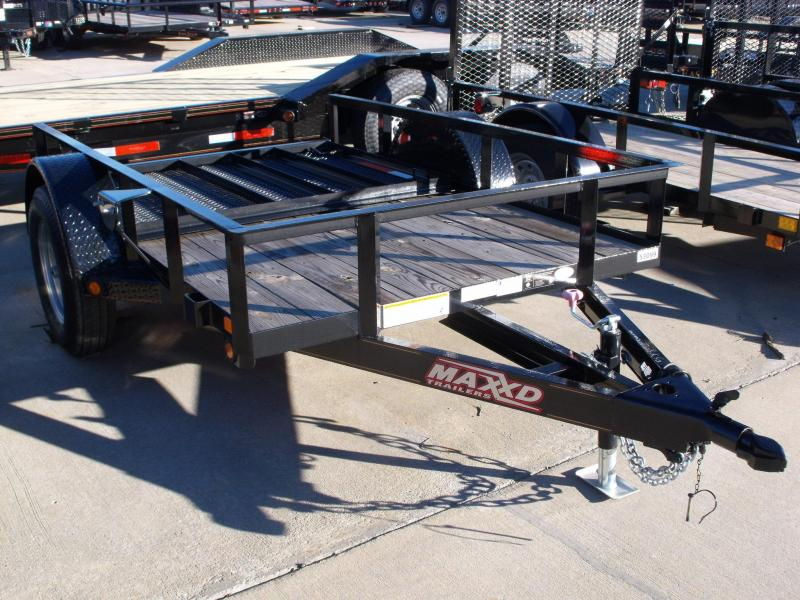Utility Trailer 5 X 8 Maxxd With Front And Rear Folding Gate Premium Trailer
