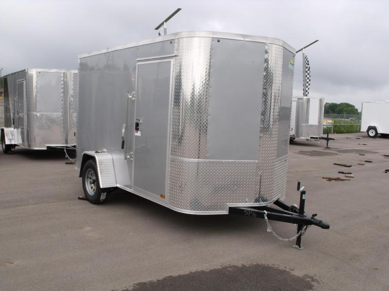 Enclosed Trailer 6 X 10 Ramp Color Silver Mist  All Tube Construction