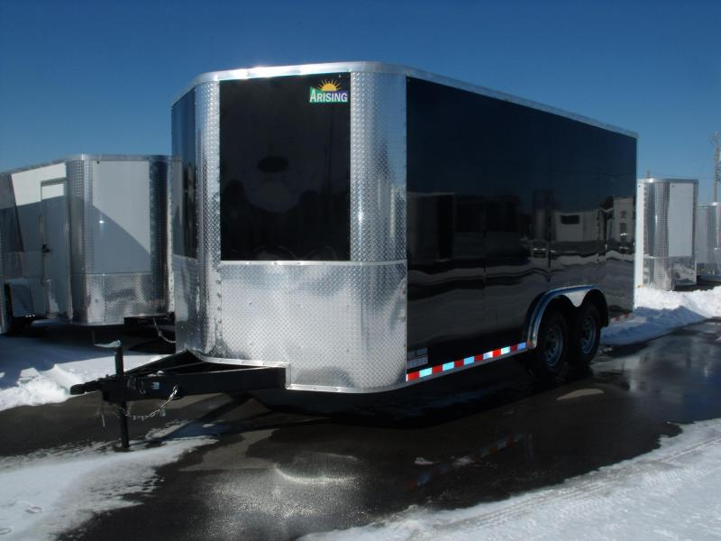 Enclosed Trailer 8.5 X 16 Ramp 7' Interior 9990 GVW ALL TUBE Construction