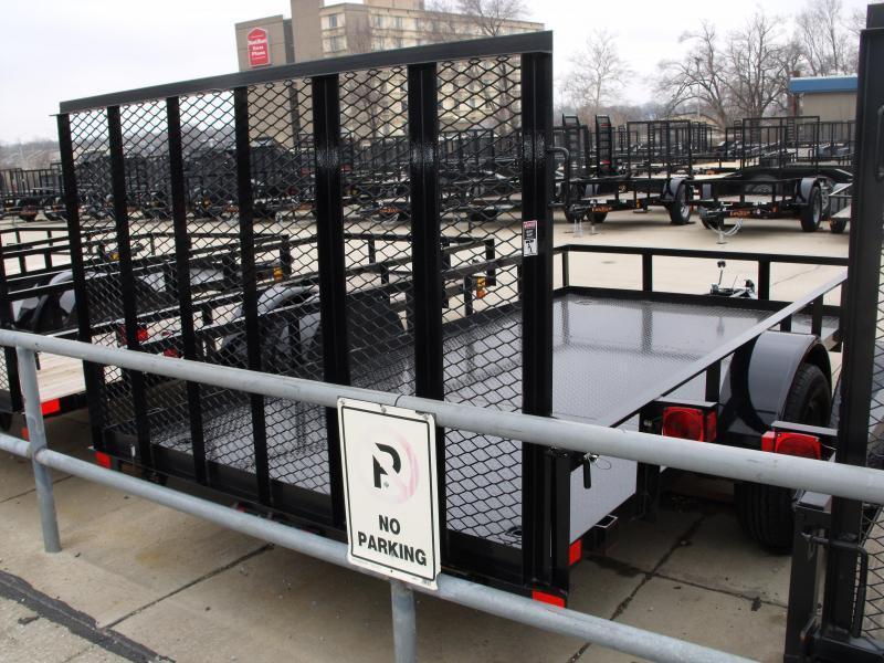 Metal Deck Utility Trailer 77 X 12 Ramp 2990 Axle ALL Steel