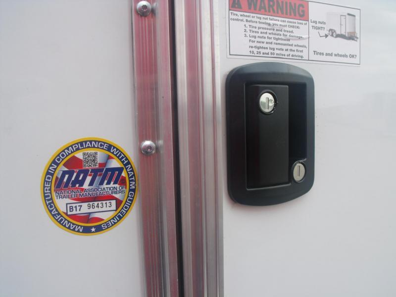 Enclosed Trailer 7 X 16 Ramp 7' Height ATV Trailer Color White  ((050 SKIN))Tube Const