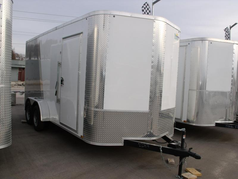 Enclosed Trailer 7 X 16 Ramp 7' Interior Height 7000 GVW   ( Cash Savings Option)