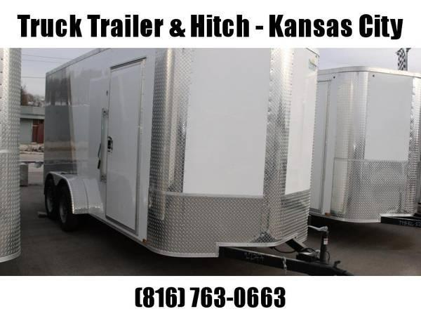 Enclosed Trailer 7 X 16 Ramp 7' Interior Height 7000 GVW