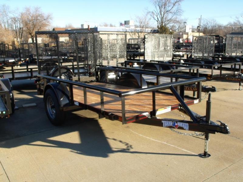 Utility Trailer 5 X 10 Pipe Rail Top 2990 Axle Spring Assist Gate