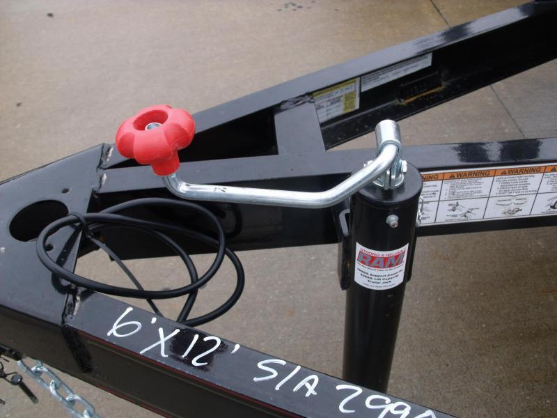 Premium Trailer Utility Trailer 6 X 12 Dove Tail 2990 # Axle
