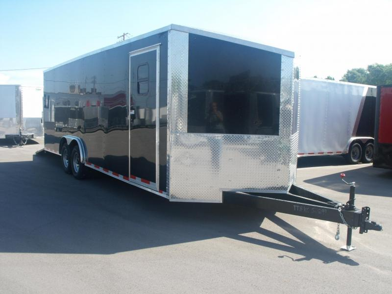 Enclosed Trailer 8.5 X 24 (ACP Composite Sides)14000 GVW 7' Height Ramp Black In Color