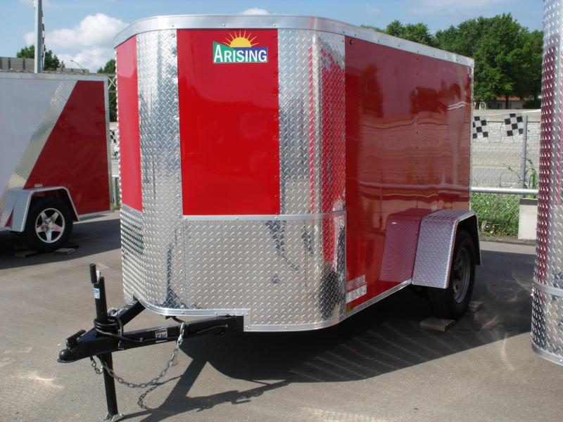 Enclosed Trailer  5 X 8 Ramp 5' Height Fits In The Garage ALL Tube Construction  Red In Color in Ashburn, VA