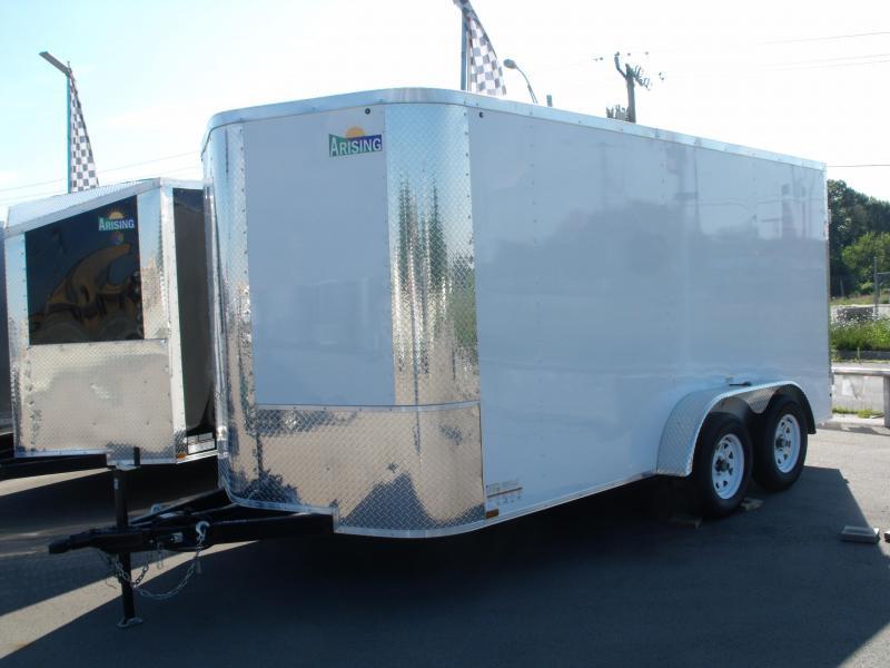 "Enclosed Trailer 7 X 14 BARN DOOR White In Color 7000 GVW 6' 6"" Height in Ashburn, VA"