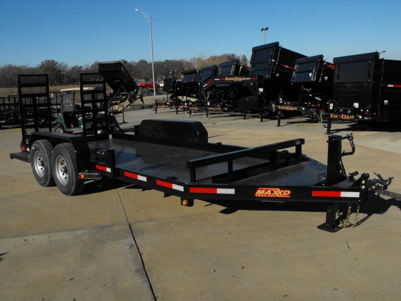 "Skid Steer Trailer 81"" X 16 Non Slip Combo Ramps 14000 GVW ALL STEEL 1/8"" Diamond Plate Steel"