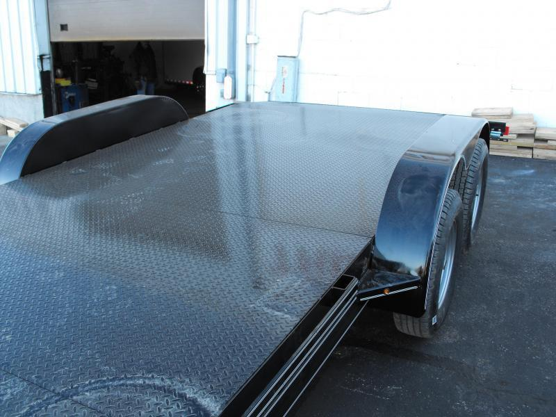 "Car Hauler 83"" X 18 Dove 7000 GVW  Metal Deck Ramps MAXXD"