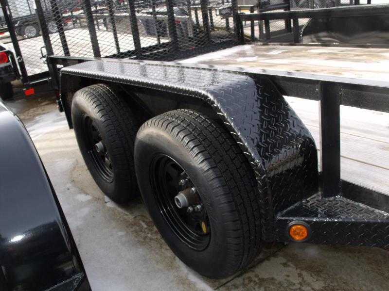 Tandem Axle Premium Trailer 77 X 14 Tube Gate 4 WL Brakes