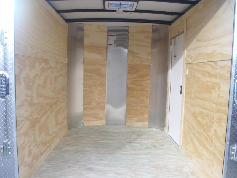 "Enclosed Trailer 6 X 8 Ramp Charcoal Color ALL Tube Construction 6' 3"" Interior"