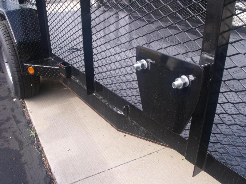 Hi Wall Landscape Trailer 83 X 16 HD Spring Asst Gate 7000 GVW